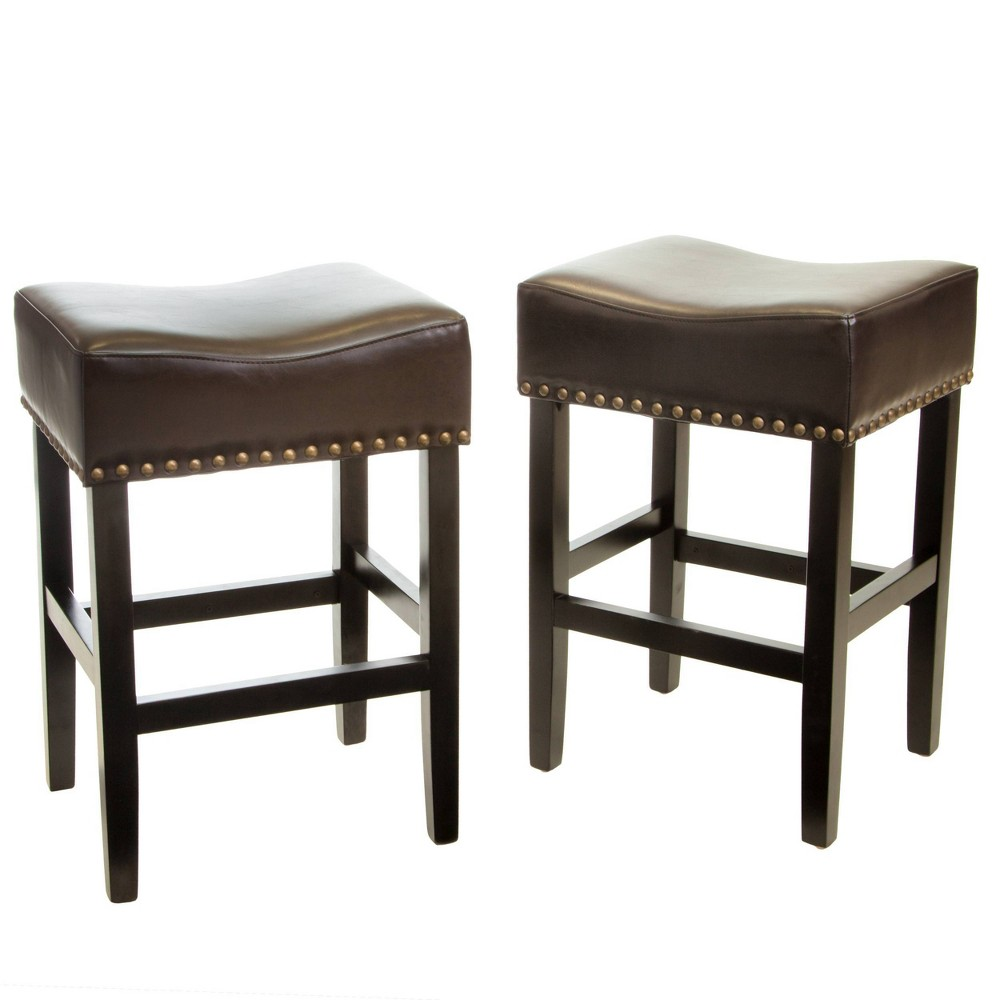 Set of 2 Lissette Counterstool Brown - Christopher Knight Home was $196.99 now $128.04 (35.0% off)