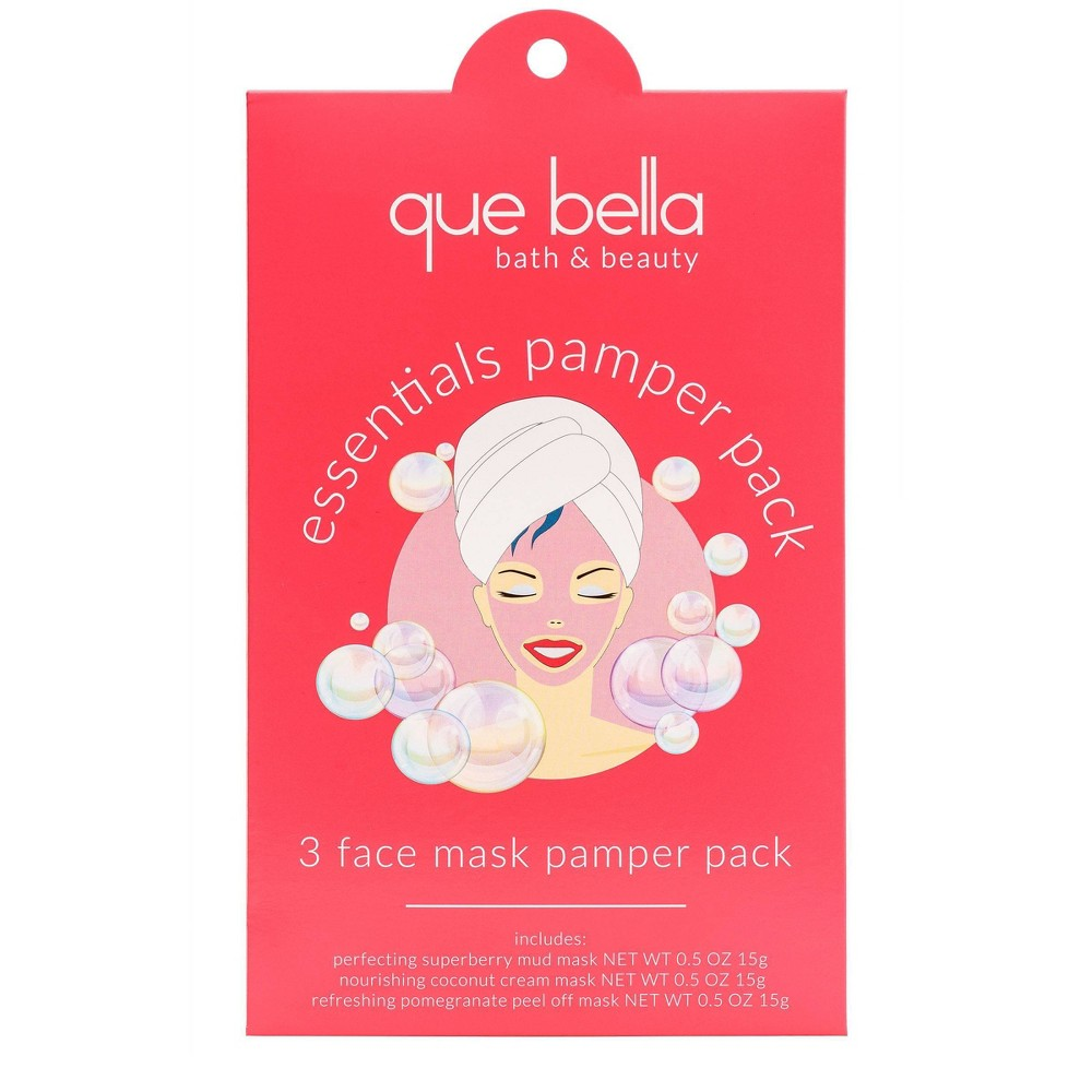 Image of Que Bella Face Mask Holiday Pamper Pack - 3ct