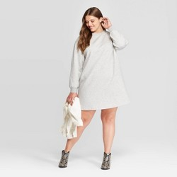 Women's Plus Size Long Sleeve Crewneck Sweater Dress - Universal Thread™