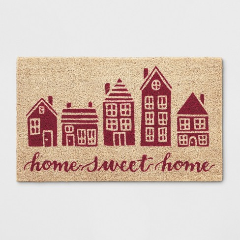 """1'6""""X2'6"""" Building Tufted Doormats Red - Threshold™ - image 1 of 3"""
