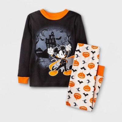 Toddler Boys' 2pc Mickey Mouse & Friends Halloween Snug Fit Pajama Set - Black