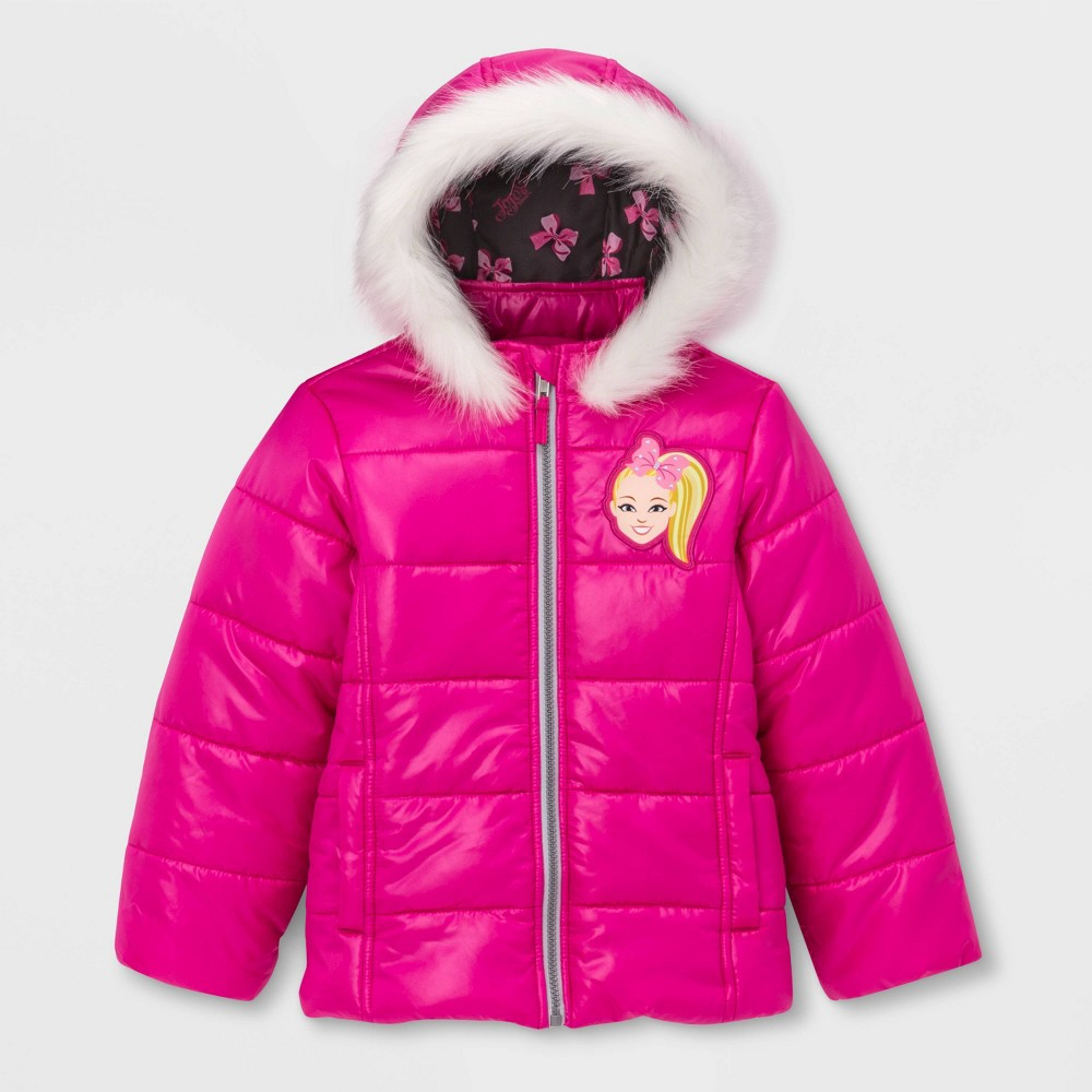 Image of Girls' JoJo Siwa Puffer Jacket - Pink 4, Girl's