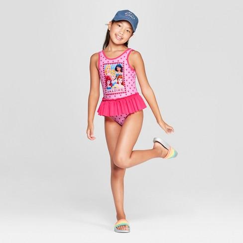 d5cf60f8e9 Girls  Disney Princess One Piece Swimsuit - Pink   Target