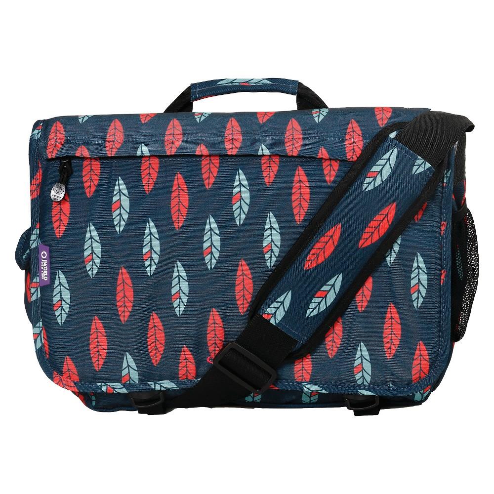 J World Thomas Messenger Bag - Navy/Red (Blue/Red)