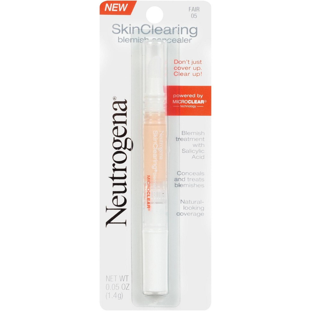 Neutrogena Skin Clearing Blemish Concealer With Salicylic Acid 05 Fair 0 05oz