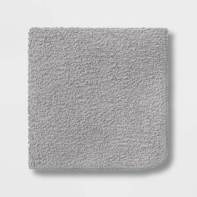 6pk Washcloth Gray - Room Essentials™
