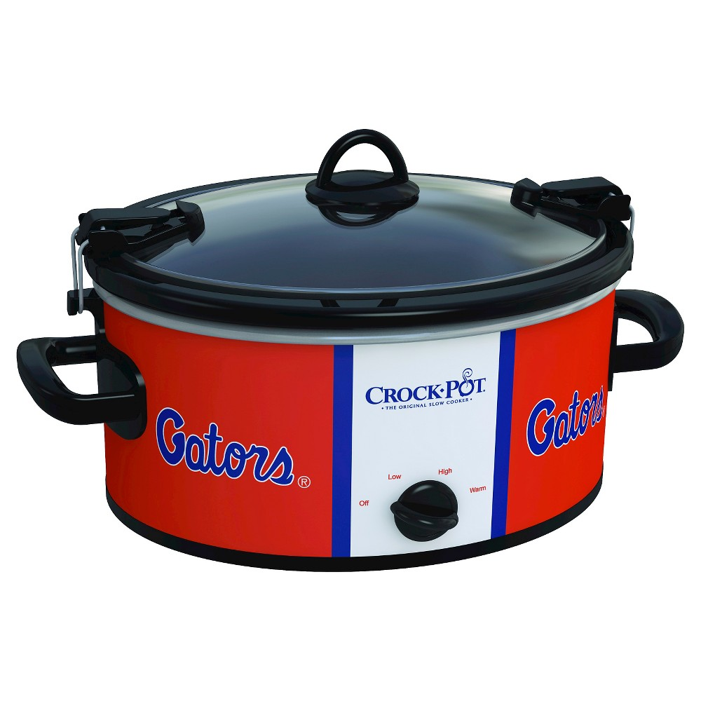 Florida Gators NCAA Crock-Pot Cook & Carry Slow Cooker, SCCPNCAA600-Ufl, Orange The Crock-Pot Cook and Carry Slow cooker is just as convenient at home in the kitchen as it is on the road. The stoneware transfers easily from your slow cooker to the table or refrigerator. Both the stoneware and the glass lid are dishwasher-safe, making clean-up simple. Crock-Pot Slow Cookers make cooking easy, but the Crock-Pot NCAA Cook and Carry Slow Cooker makes it easy to get your dish from here to there while showing team pride. Color: Orange.