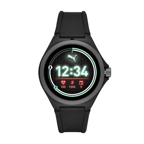 PUMA Smartwatch 44mm - Black with Black Silicone - image 1 of 4