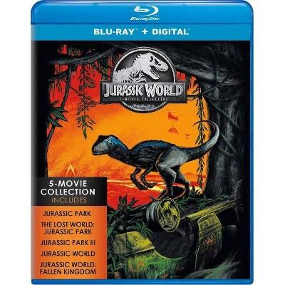 Jurassic World Fallen Kingdom 5 Movie Collection (Blu-ray + Digital)
