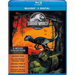 Jurassic World Fallen Kingdom 5 Movie Collection (Blu-Ray + Digital)