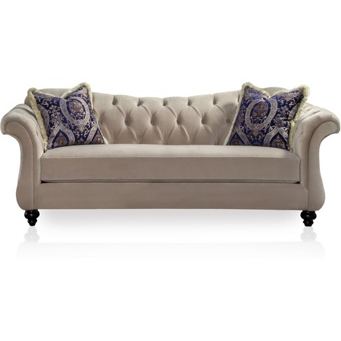 Fantastic Alexandria Victorian Style Sofa Light Mocha Iohomes Camellatalisay Diy Chair Ideas Camellatalisaycom