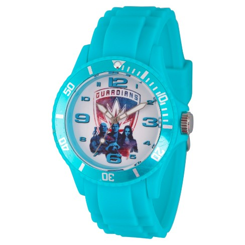 Men's Marvel® Guardians Of The Galaxy Vol. 2 Star-Lord/Groot/Gamora Plastic Watch - Blue - image 1 of 2