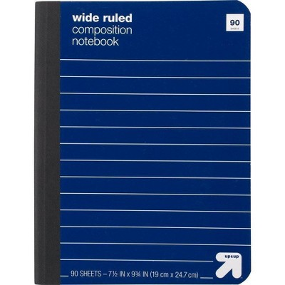 Composition Notebook Wide Ruled Paperboard Cover - up & up™