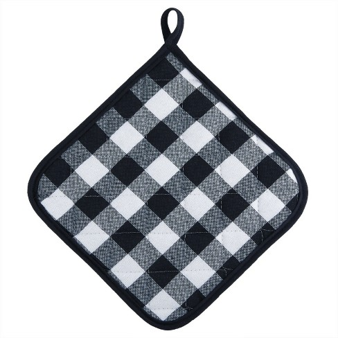 Kate Aurora 2 Pack Gingham Plaid Checkered Country Farmhouse Pot Holders - image 1 of 2