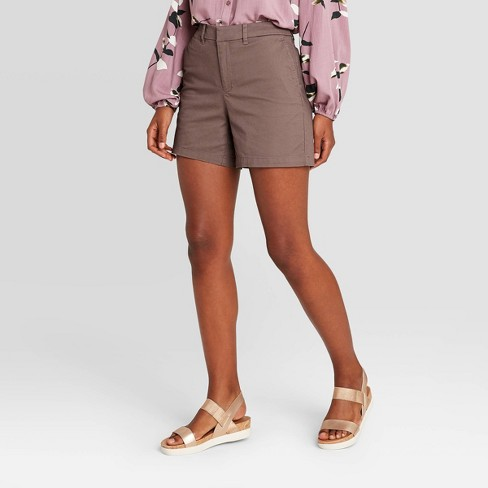 "Women's High-Rise Casual Fit 5"" Chino Shorts - A New Day™ - image 1 of 3"