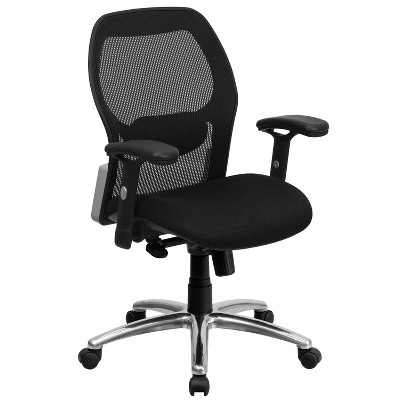 Flash Furniture Mid-Back Super Mesh Executive Swivel Office Chair with Knee Tilt Control and Adjustable Arms