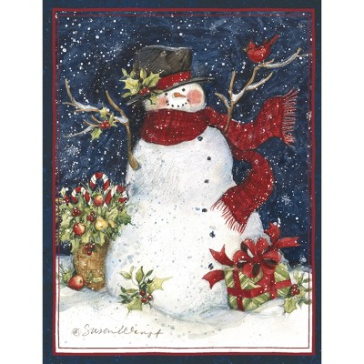 18ct Snowman in Scarf Holiday Boxed Cards