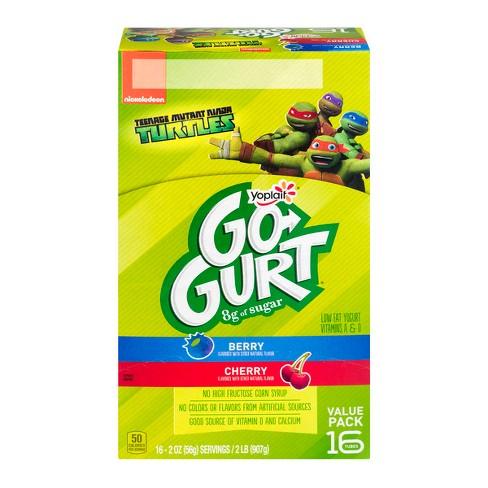 Yoplait Go-Gurt Berry And Cherry Low