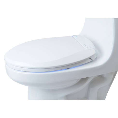 Lumawarm Heated Nightlight Round Toilet Seat White - Brondell - image 1 of 4