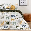 Full Safari Wild Cats DreamIt Bedding Set White/Green - South Shore - image 2 of 4