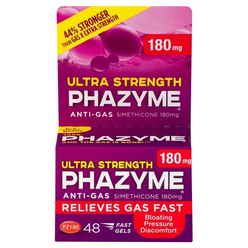 Phazyme Ultra Strength Anti-Gas Relief 180mg Fast Gels - 48ct - image 1 of 4