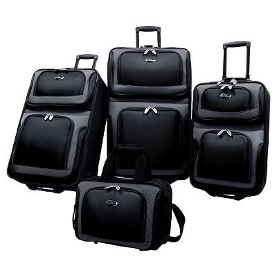 U.S. Traveler Luggage Set - Black