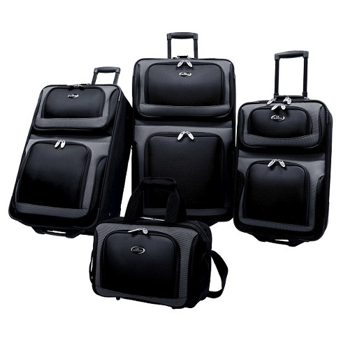 U.S. Traveler New Yorker 4pc Luggage Set - Black - image 1 of 1