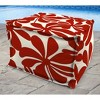 Outdoor Bean Filled Pouf/Ottoman In Twirly American Red  - Jordan Manufacturing - image 3 of 3