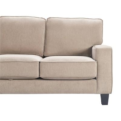 "77"" Palisades Track Arm Fabric Sofa with Storage - Serta"