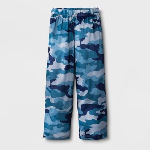 Boys' Camo Sleep Pajama Pants - Cat & Jack™ Blue - image 1 of 1