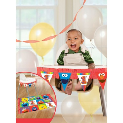 Birthday Express Sesame Street Elmo Turns One High Chair Decorating Kit