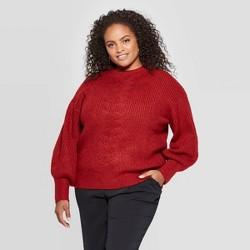Women's Plus Size Turtleneck Pullover Sweater - Ava & Viv™