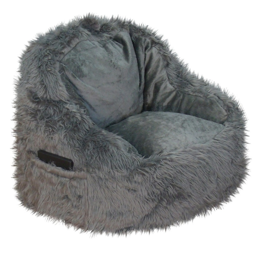 Image of Bean Bag Chair Gray- Reservation Seating