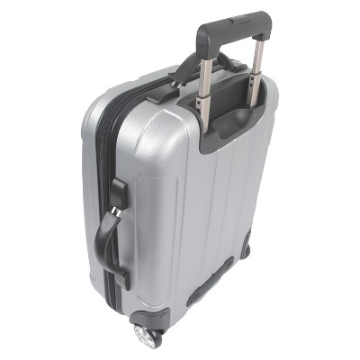 'Traveler's Choice Rome 21'' Carry On Luggage - Silver, Size: Small'