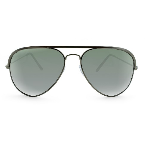 Women's Aviator Sunglasses - A New Day™ Gunmetal - image 1 of 3