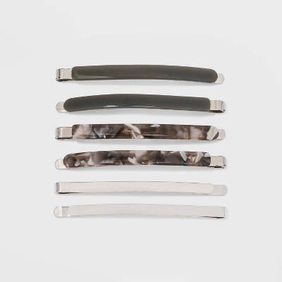 Metal and Lucite Bobby Pin Set 6pc - A New Day™