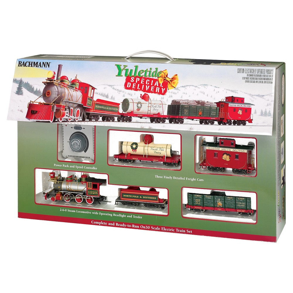 Bachmann Trains Yuletide Special Delivery - On30 Scale Ready To Run Electric Train Set