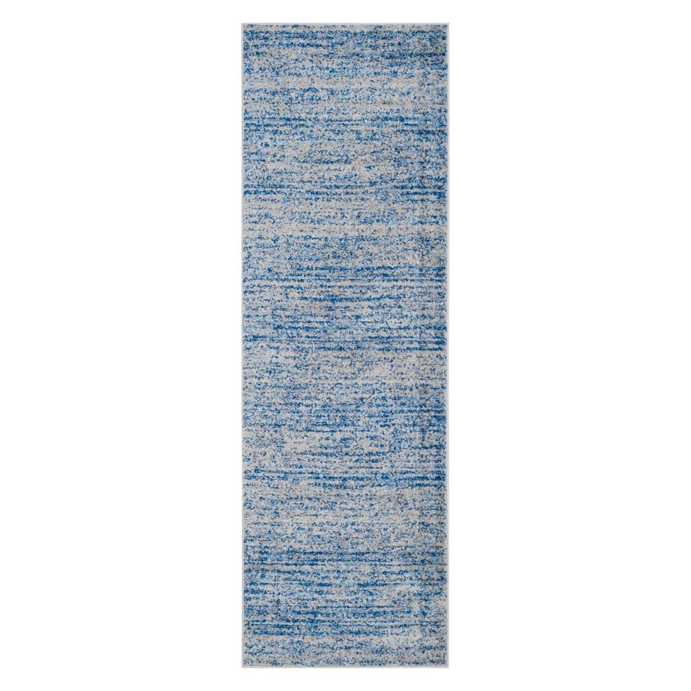 2'6X16' Spacedye Design Runner Blue/Silver - Safavieh