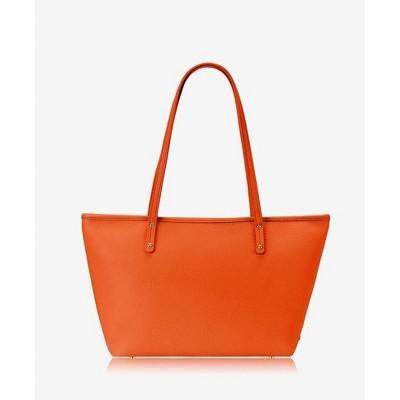 GiGi New York Orange Zipper Top Mini Taylor Bag
