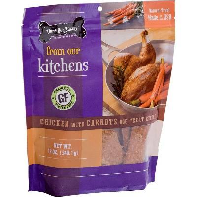 Three Dog Bakery Meaty Filet Strips Chicken with Carrots Jerky Dog Treats - 12oz