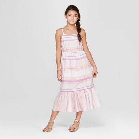 4115490d92a Girls  Stripe Maxi Dress - Cat   Jack™ Purple   Target