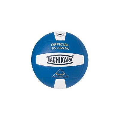 Tachikara SV-5WSC NFHS Composite Leather Volleyball, Royal/White