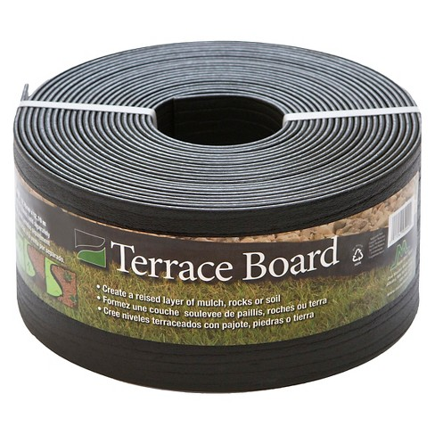 """5"""" x 40' Terrace Board Lawn & Garden Edging Black With 10 stakes - Black - Master Mark Plastics - image 1 of 1"""