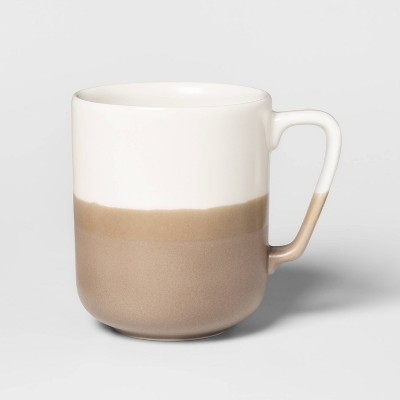 15.2oz Porcelain Ollers Mug White/Brown - Project 62™