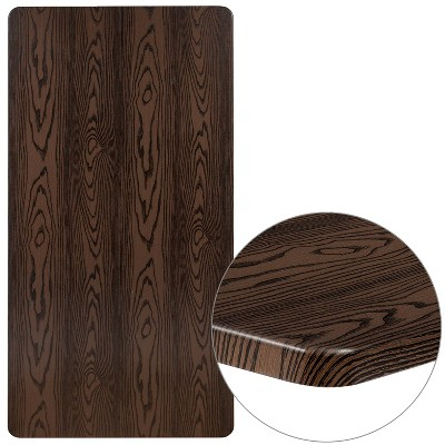 "Flash Furniture 30"" x 60"" Rectangular Rustic Wood Laminate Table Top"