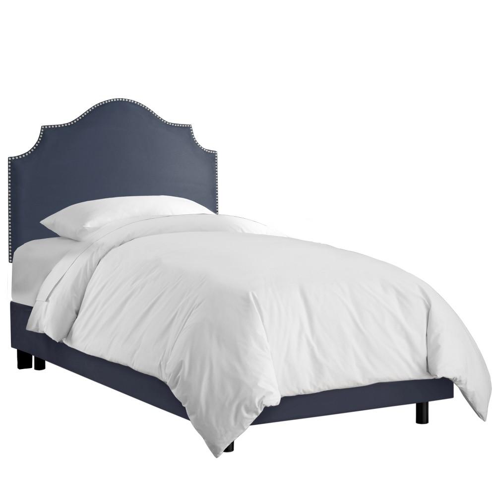 Queen Kids' Nail Button Notched Bed Premier Lazuli Blue - Skyline Furniture