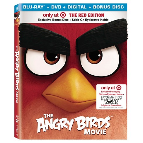 The Angry Birds Movie Target Exclusive Red Edition with Exclusive Packaging + Bonus Disc + Stick-on Eyebrows (Blu-ray/DVD) - image 1 of 2