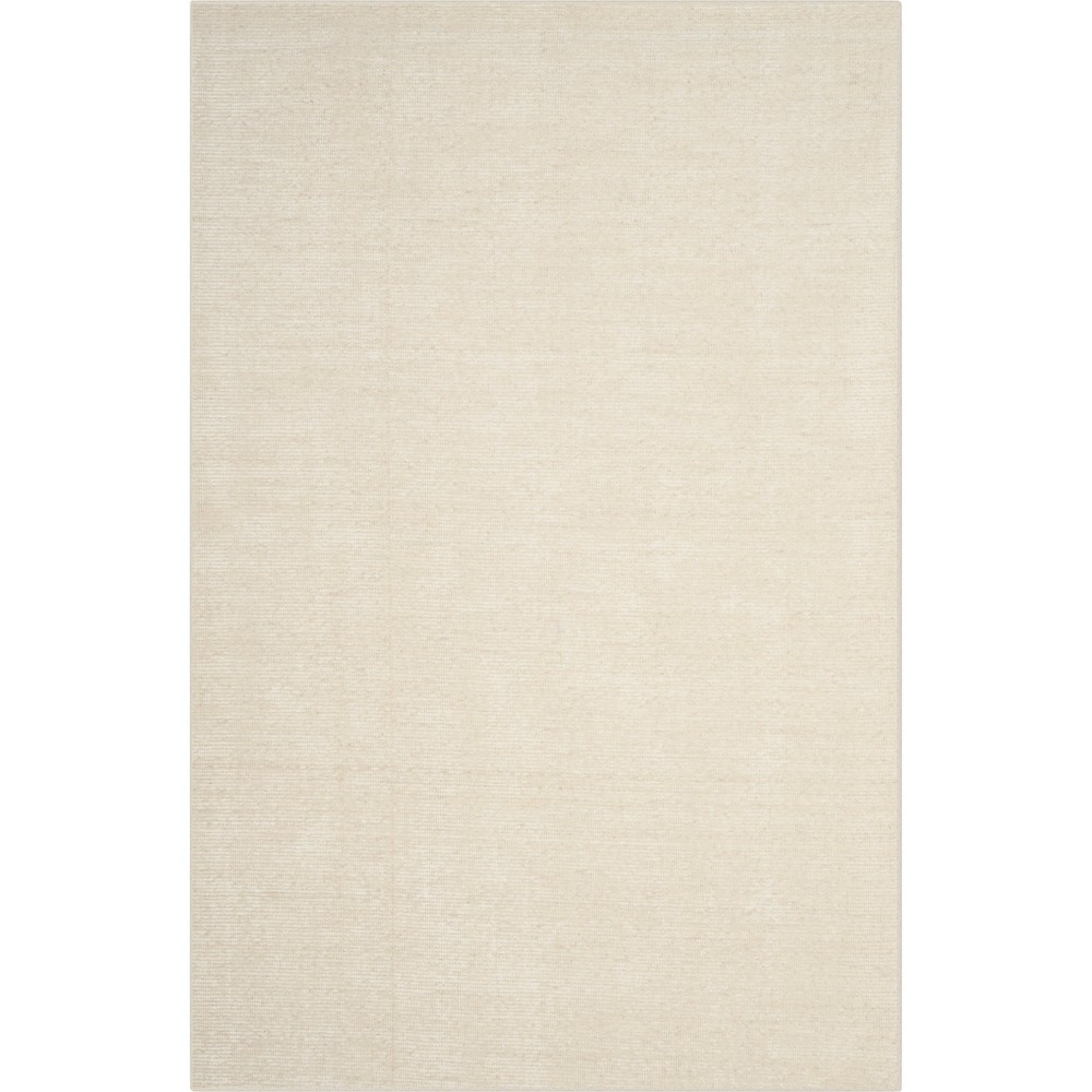5'X8' Solid Knotted Area Rug Ivory/Light Gray - Safavieh, White