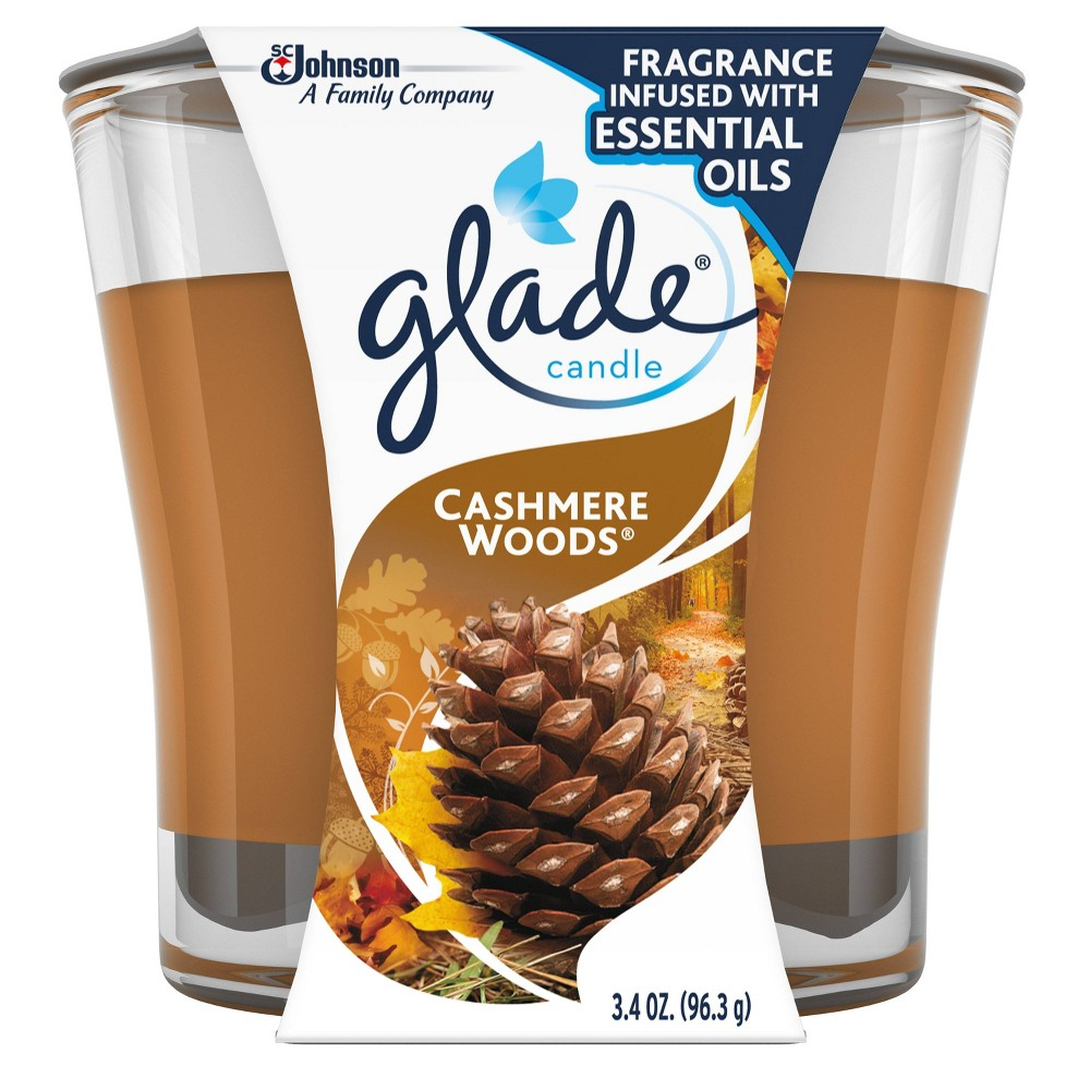 Glade Jar Candle Air Freshener, Cashmere Woods, 3.8oz