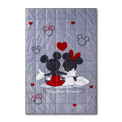Mickey Mouse & Friends 5lbs Minnie Mouse Weighted Blanket Gray